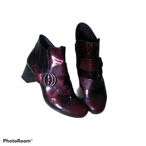 Jose Saenz dark burgundy ankle boots size 39